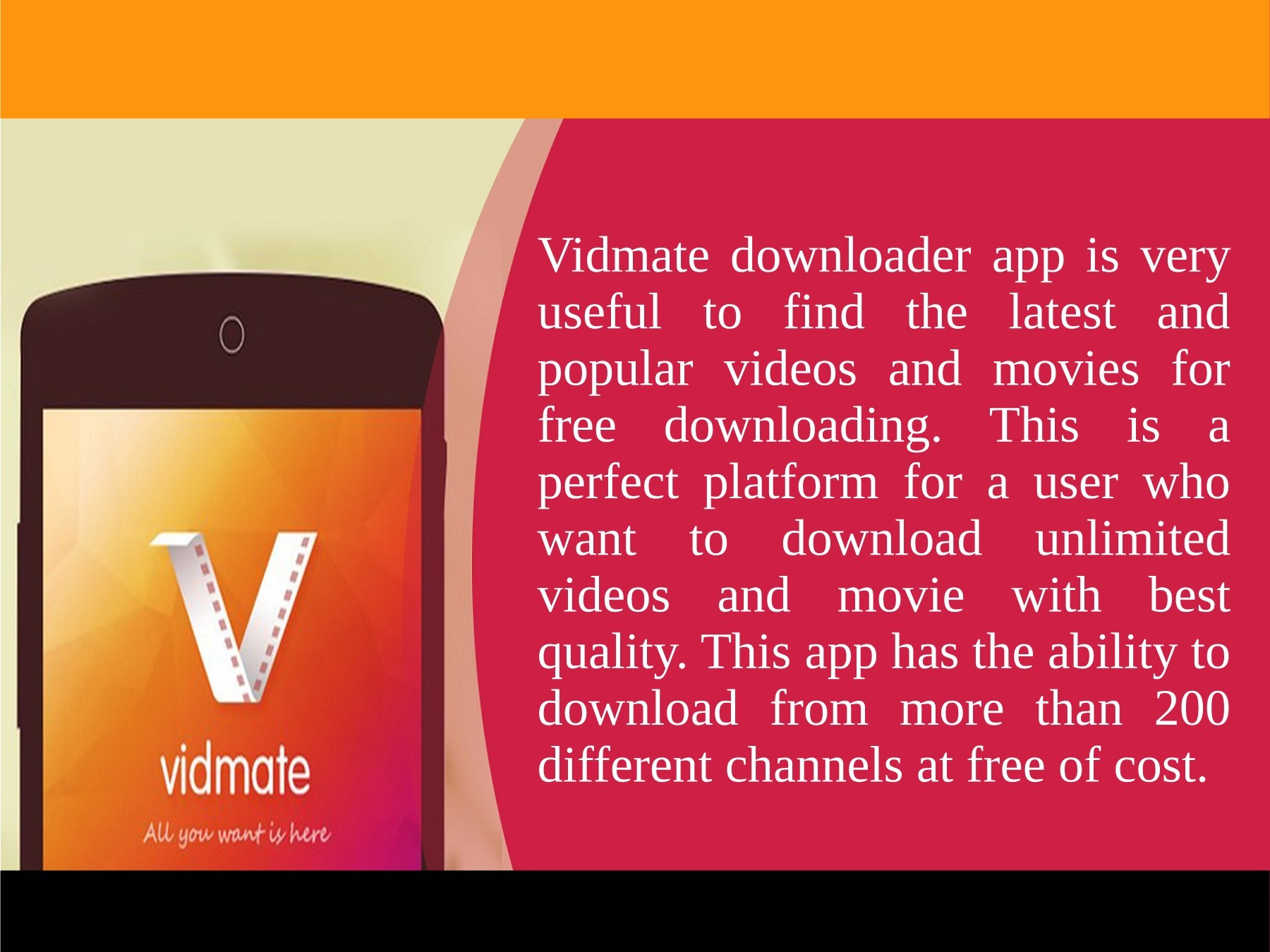Best App to Download Videos – VidMate Download for free